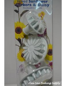SUNFLOWER GERBERA & DAISY CUTTER 3PCS